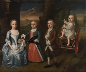 Lucy Grymes (left) and siblings